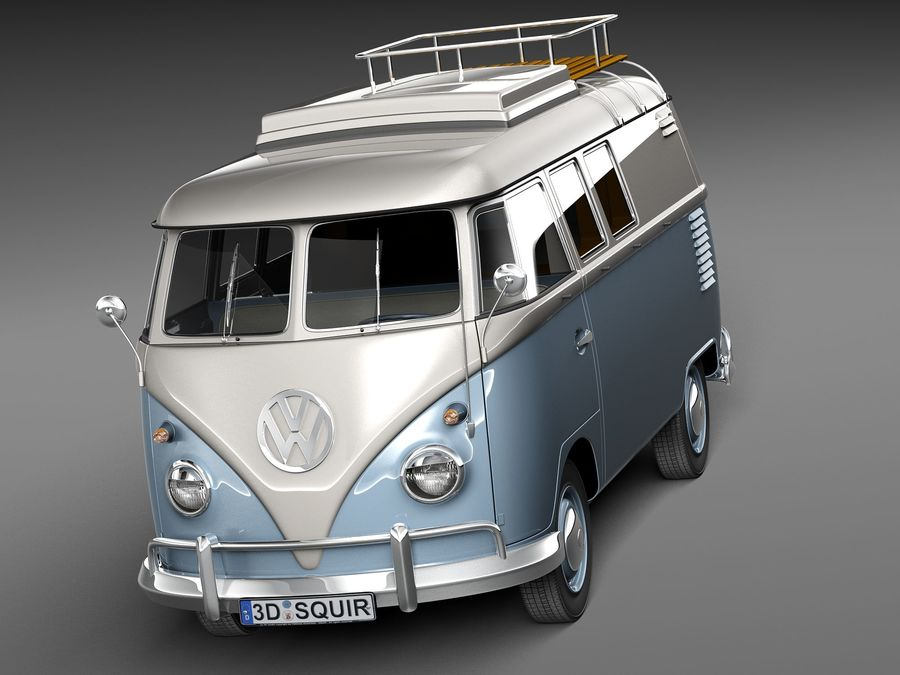 Volkswagen Camper Van 1950 royalty-free 3d model - Preview no. 2