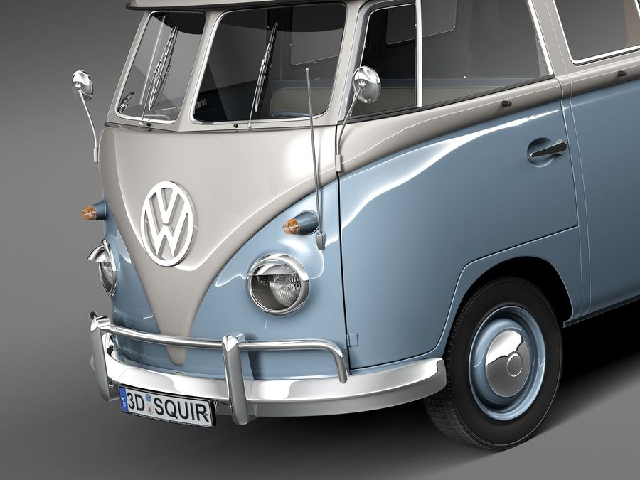 Volkswagen Camper Van 1950 royalty-free 3d model - Preview no. 3