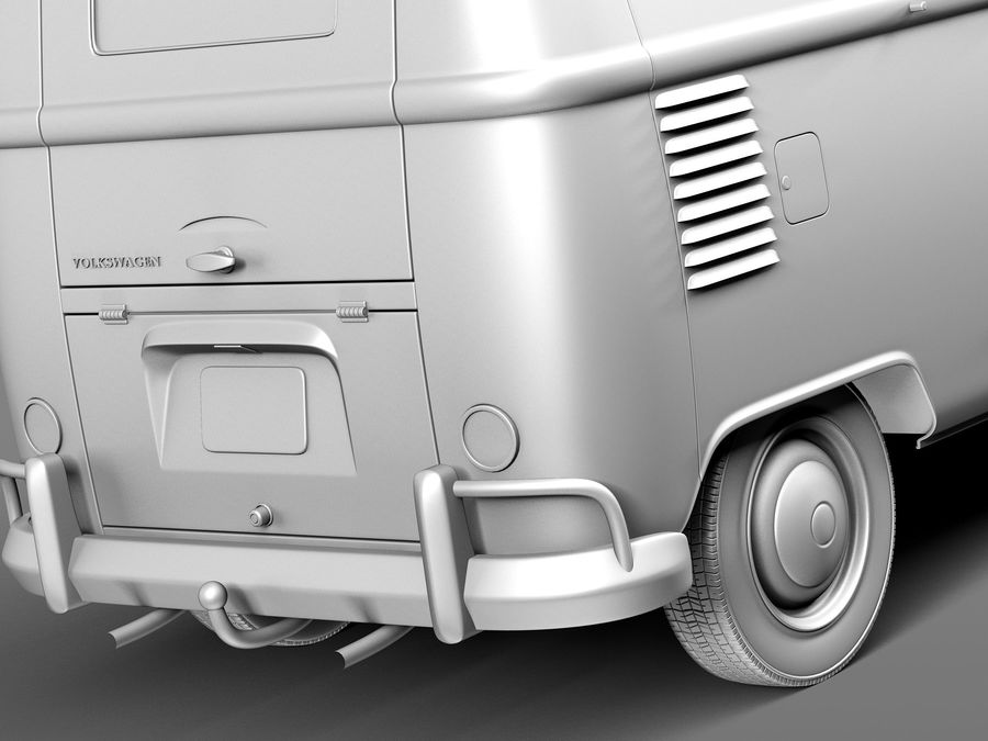 Volkswagen Camper Van 1950 royalty-free 3d model - Preview no. 11