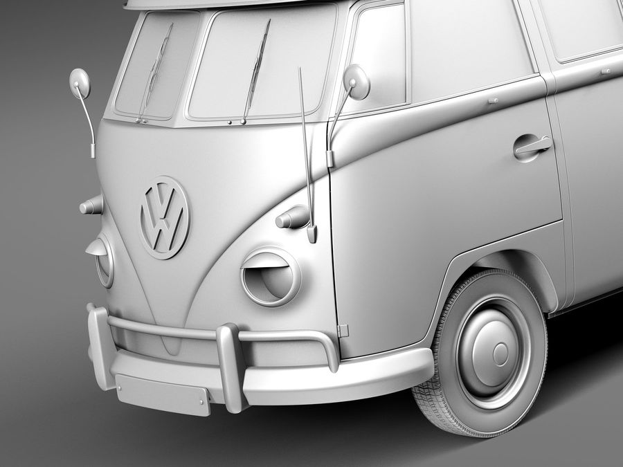 Volkswagen Camper Van 1950 royalty-free 3d model - Preview no. 10