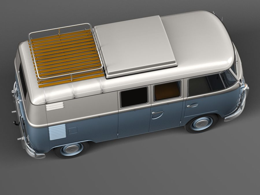 Volkswagen Camper Van 1950 royalty-free 3d model - Preview no. 8