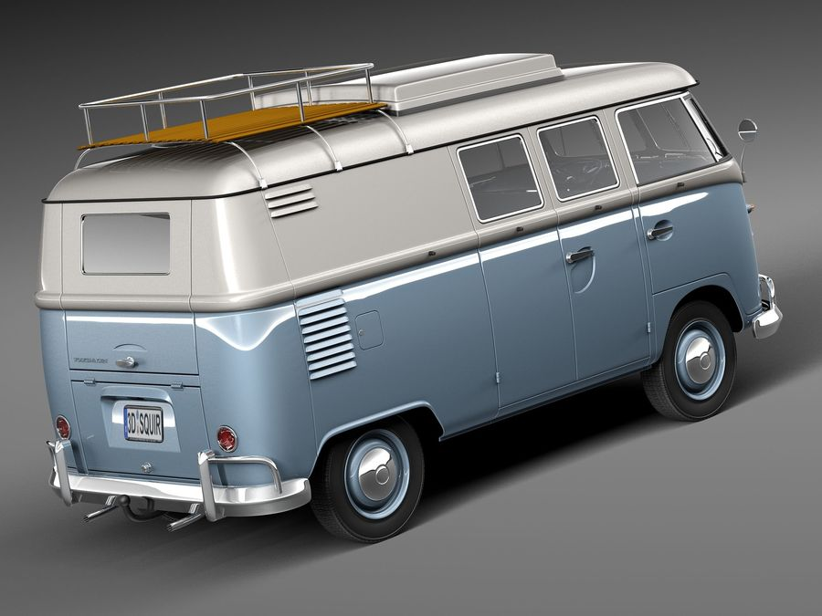 Volkswagen Camper Van 1950 royalty-free 3d model - Preview no. 5