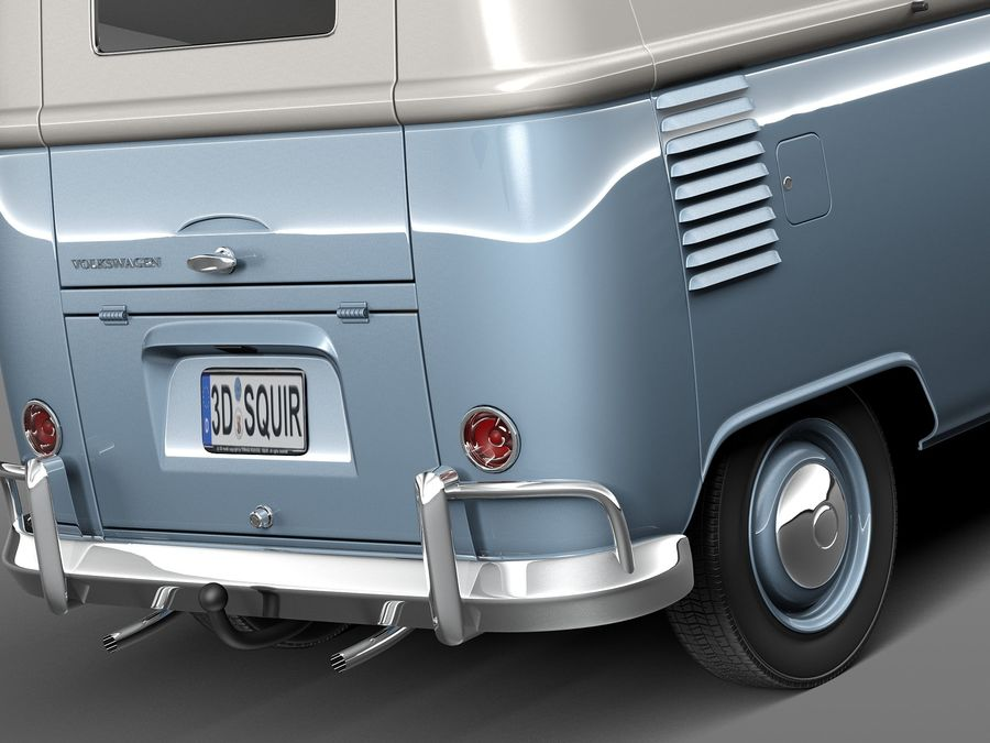 Volkswagen Camper Van 1950 royalty-free 3d model - Preview no. 4
