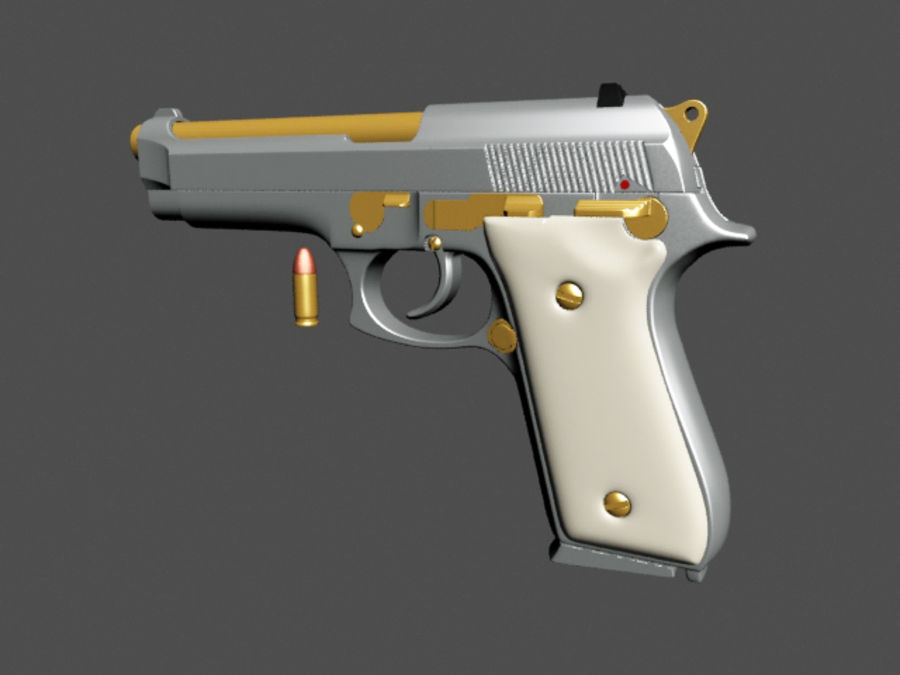 9mm | Taurus PT92 royalty-free 3d model - Preview no. 6