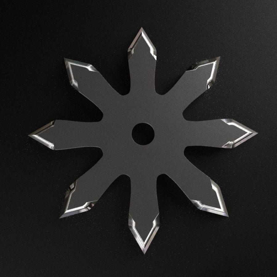 Shuriken Throwing Star royalty-free 3d model - Preview no. 6