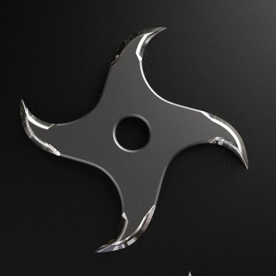 Shuriken Throwing Star royalty-free 3d model - Preview no. 7