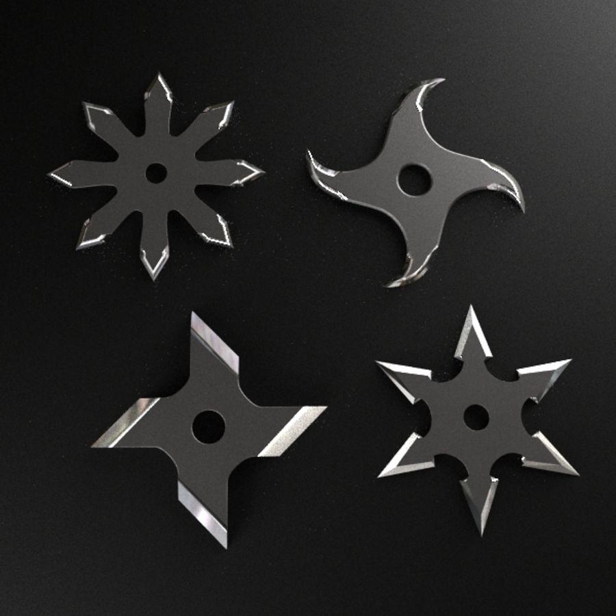 Shuriken Throwing Star royalty-free 3d model - Preview no. 1