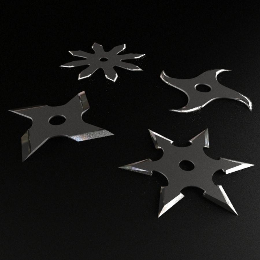 Shuriken Throwing Star royalty-free 3d model - Preview no. 3
