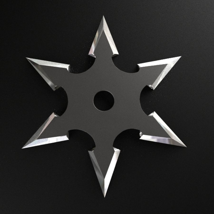 Shuriken Throwing Star royalty-free 3d model - Preview no. 4