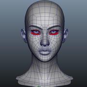 Голова девушки 3d model