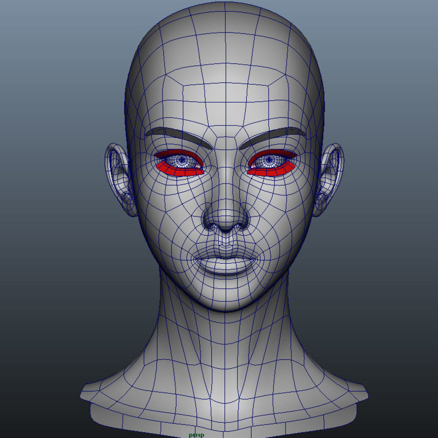 Girl Head royalty-free 3d model - Preview no. 1