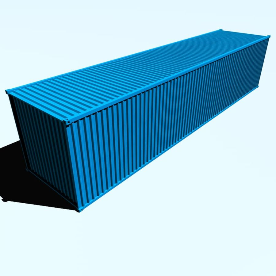 ISO-Container 40 feet royalty-free 3d model - Preview no. 2