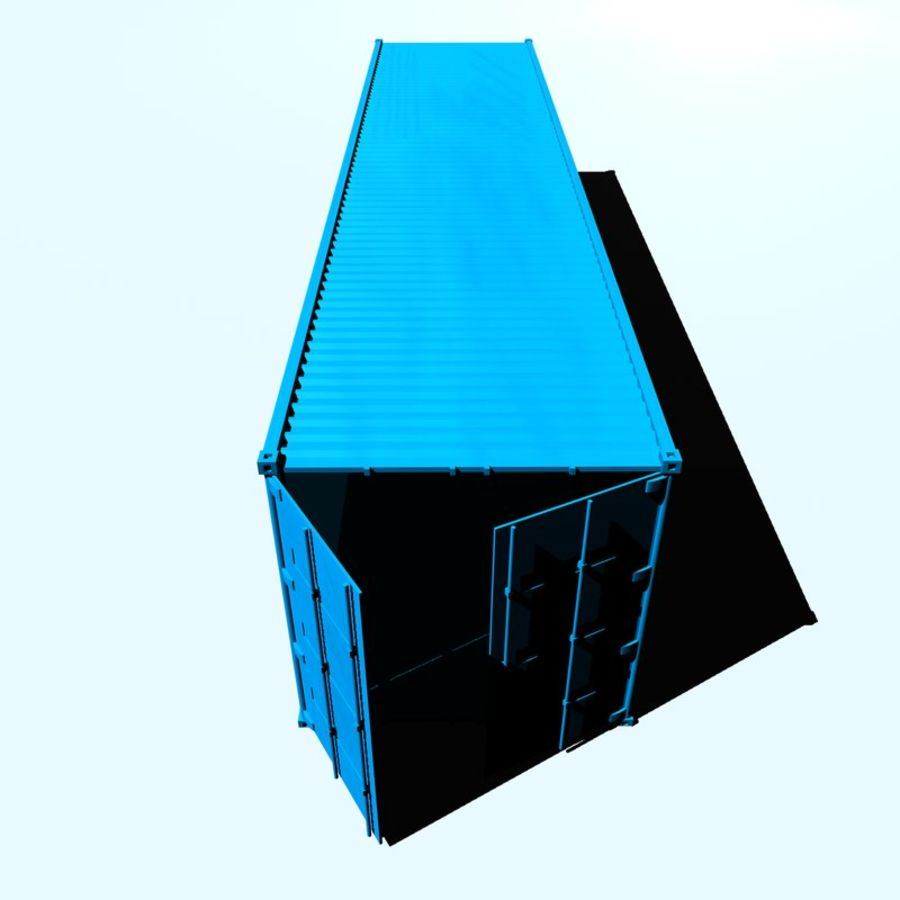ISO-Container 40 feet royalty-free 3d model - Preview no. 4