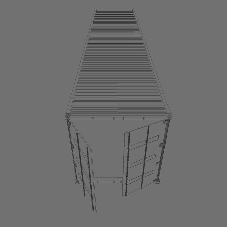 ISO-Container 40 feet royalty-free 3d model - Preview no. 5