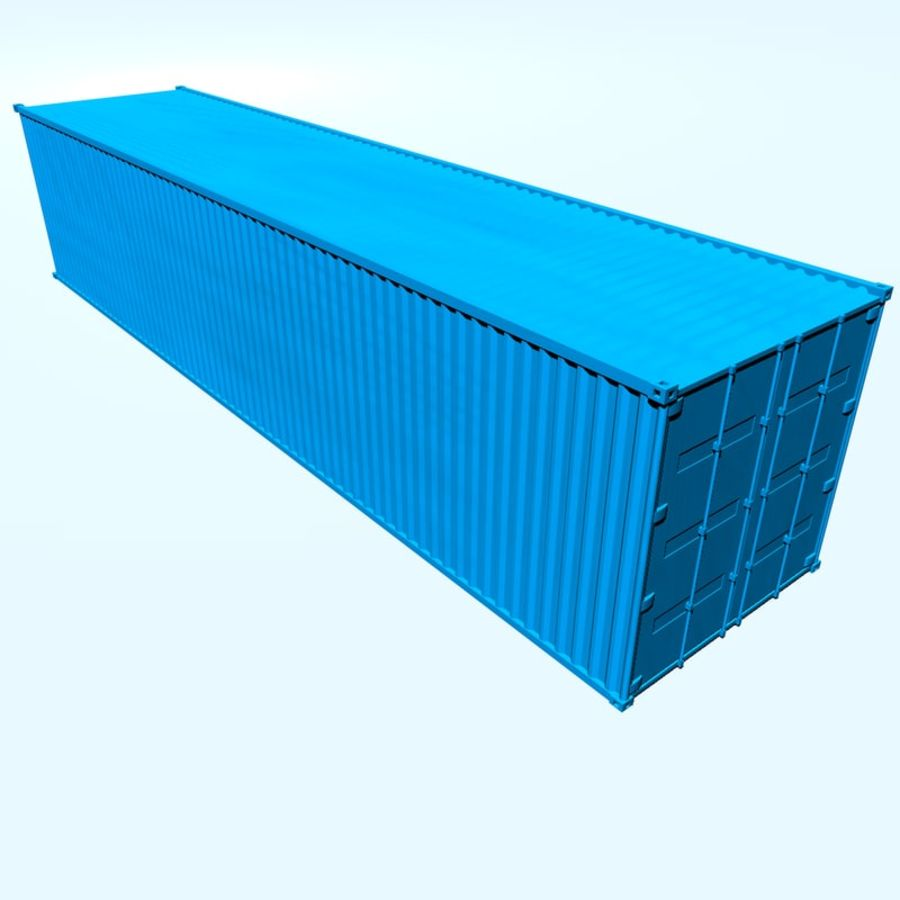 ISO-Container 40 feet royalty-free 3d model - Preview no. 1