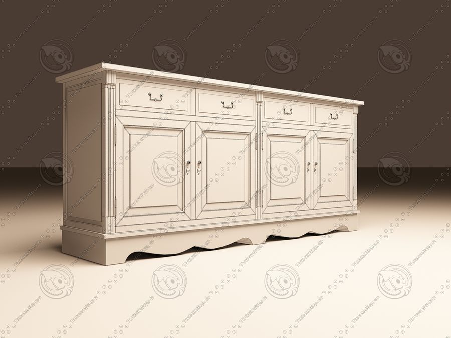 Eichholtz Cabinet Dresser royalty-free 3d model - Preview no. 6