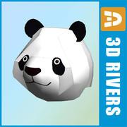 Panda head by 3DRivers 3d model