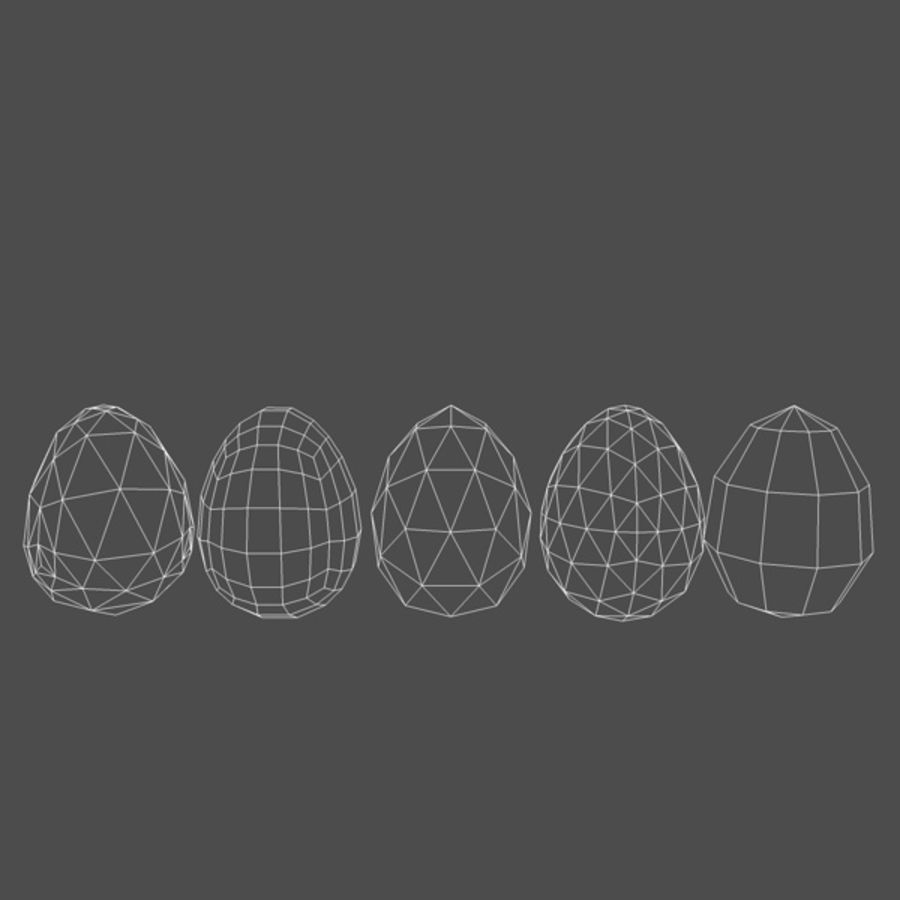 Easter Eggs (5 types) royalty-free 3d model - Preview no. 5