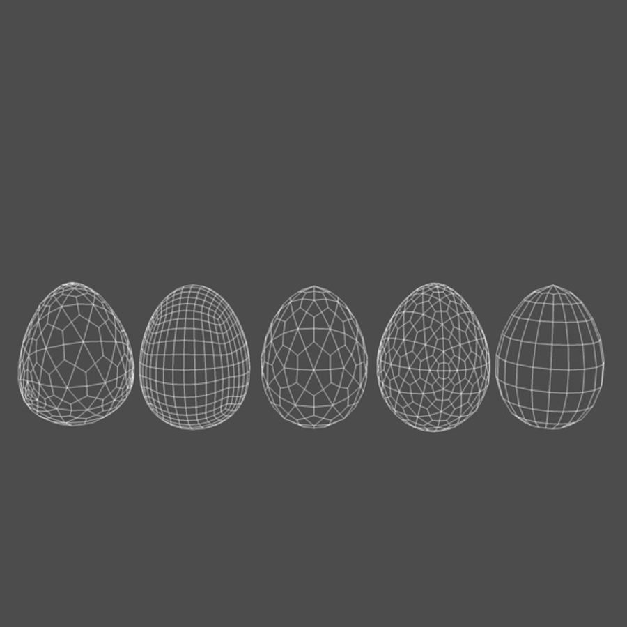 Easter Eggs (5 types) royalty-free 3d model - Preview no. 6