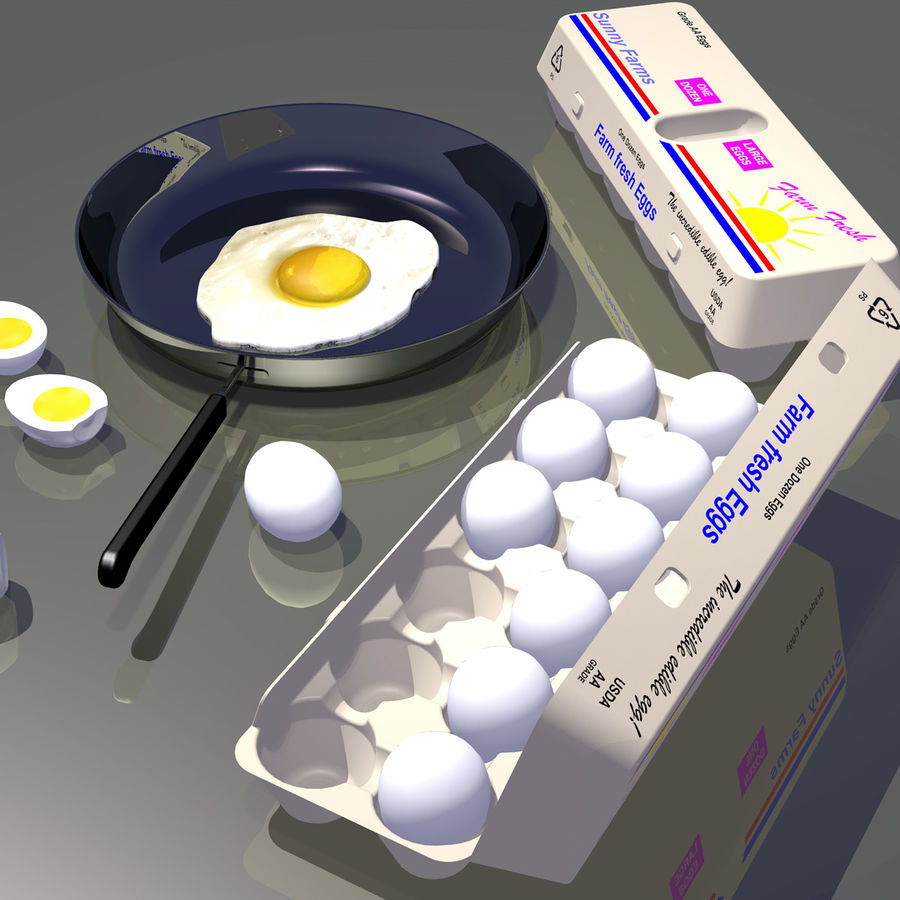 Eggs royalty-free 3d model - Preview no. 9