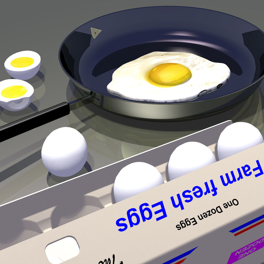 Eggs royalty-free 3d model - Preview no. 11