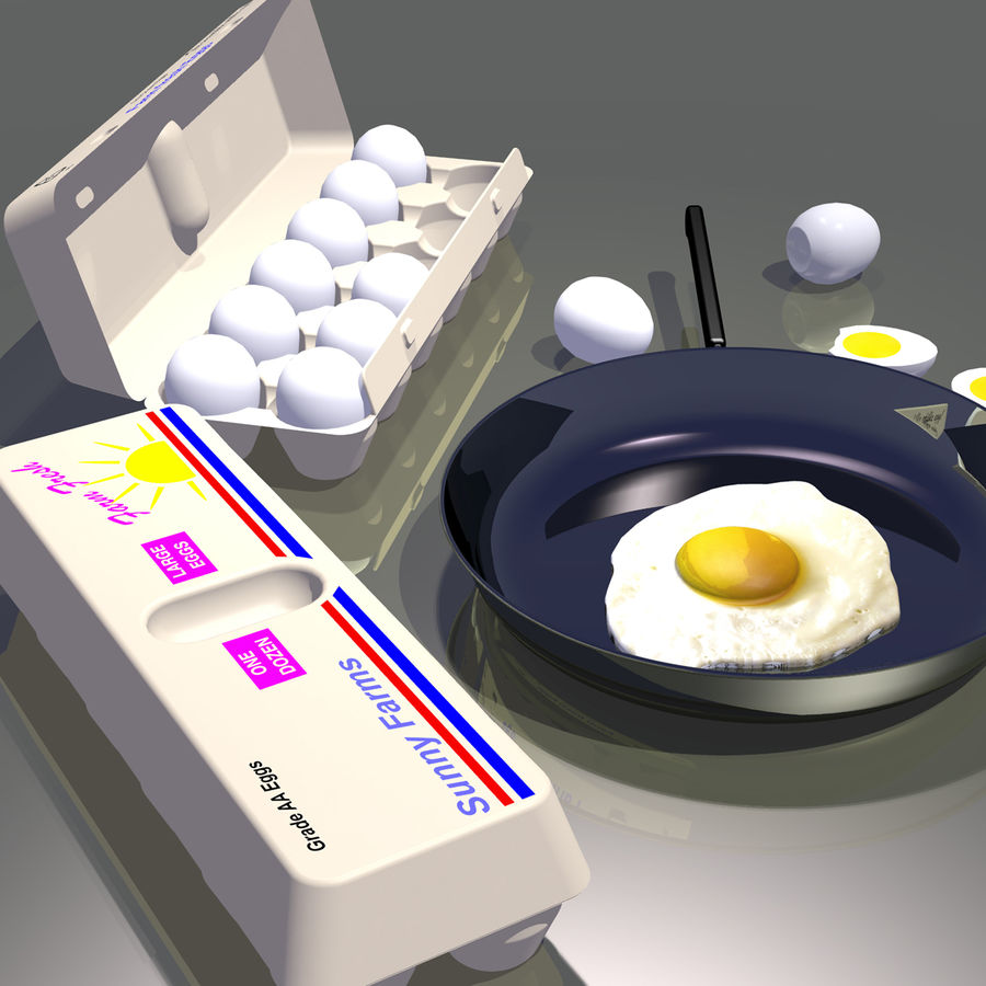 Eggs royalty-free 3d model - Preview no. 8
