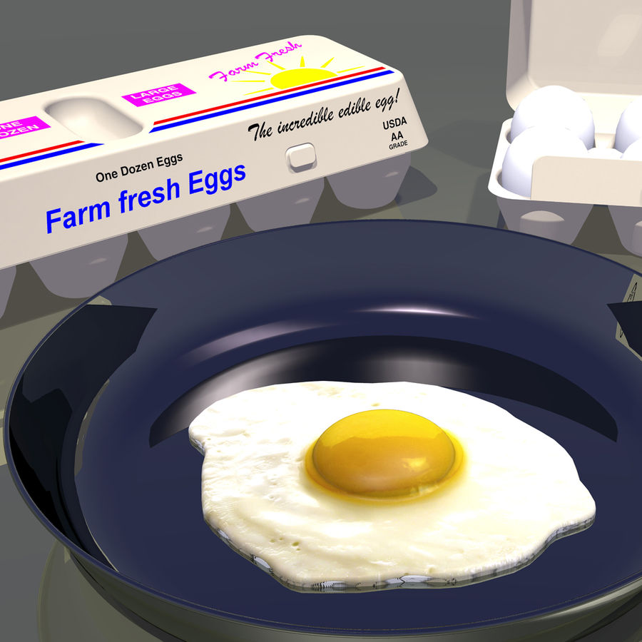 Eggs royalty-free 3d model - Preview no. 4