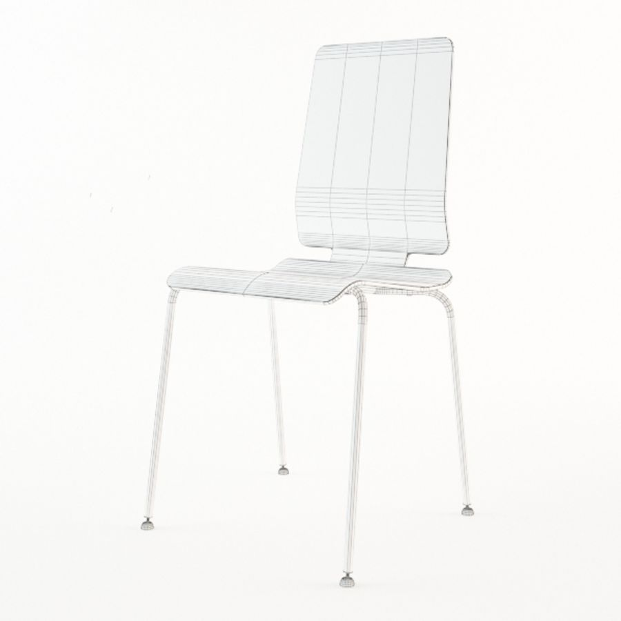 IKEA Gilbert Chair Royalty Free 3d Model   Preview No. 6