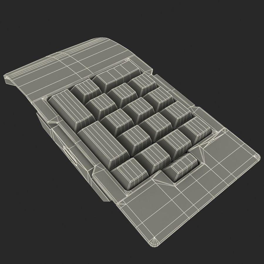 Klawiatura numeryczna royalty-free 3d model - Preview no. 12