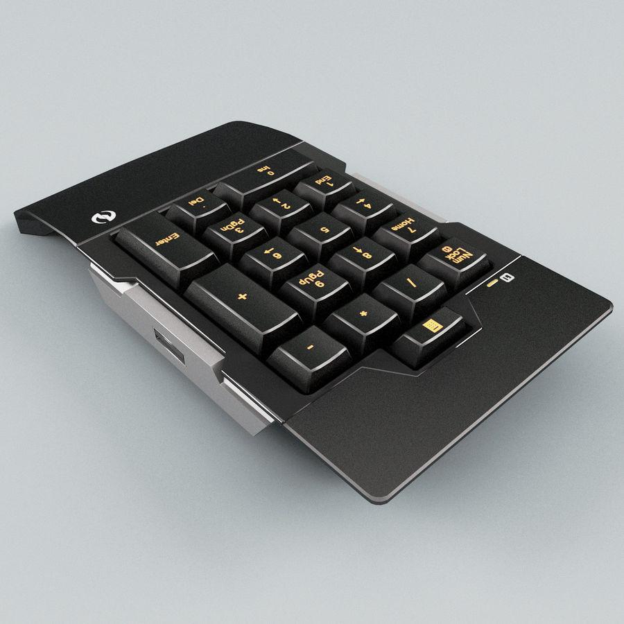 Klawiatura numeryczna royalty-free 3d model - Preview no. 4