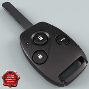 Remote Key Fob Honda 3d model