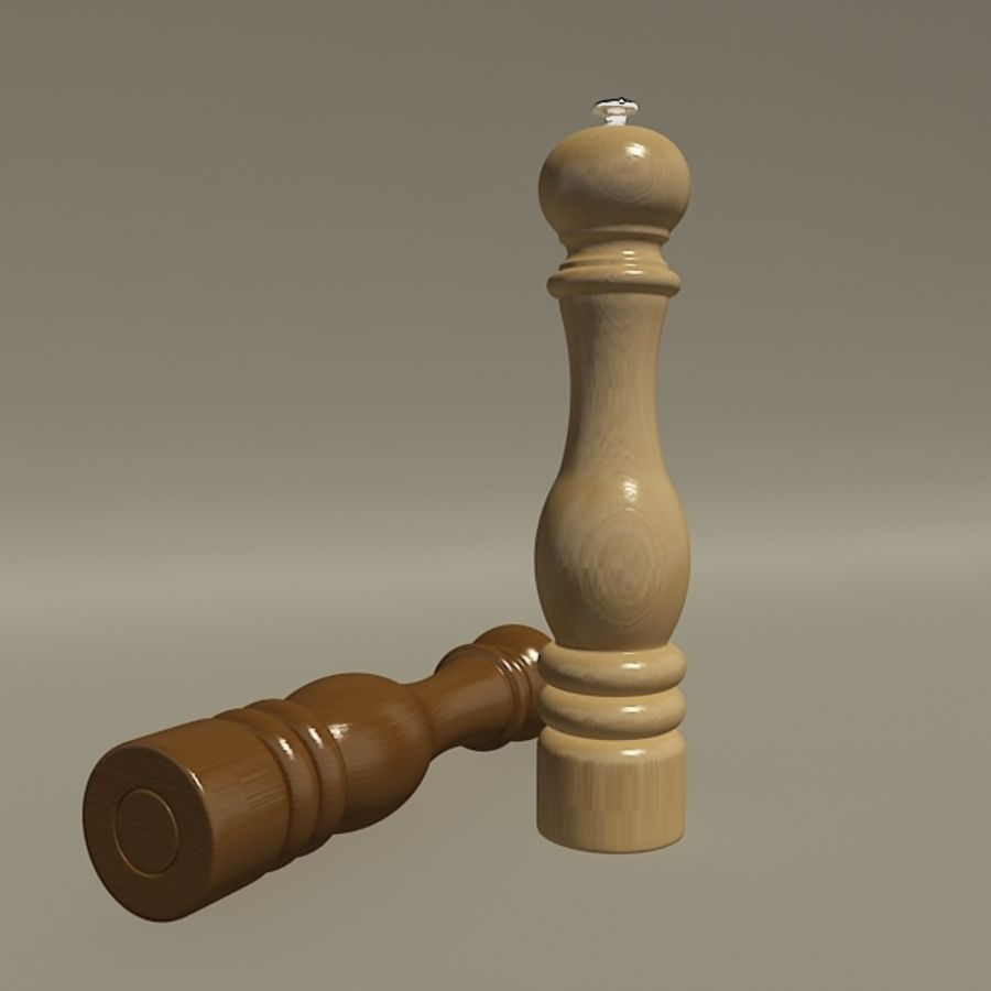 Pepper mill royalty-free 3d model - Preview no. 4