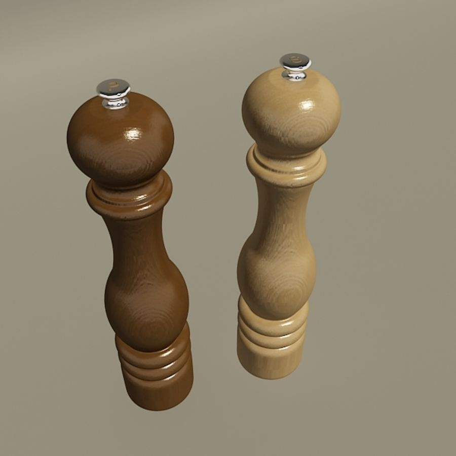 Pepper mill royalty-free 3d model - Preview no. 3