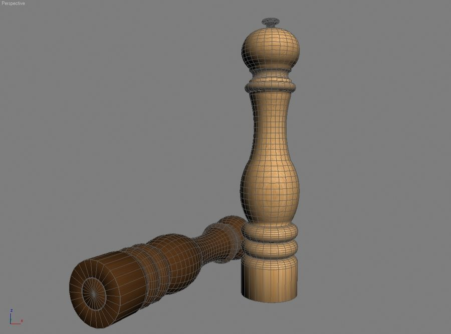 Pepper mill royalty-free 3d model - Preview no. 5
