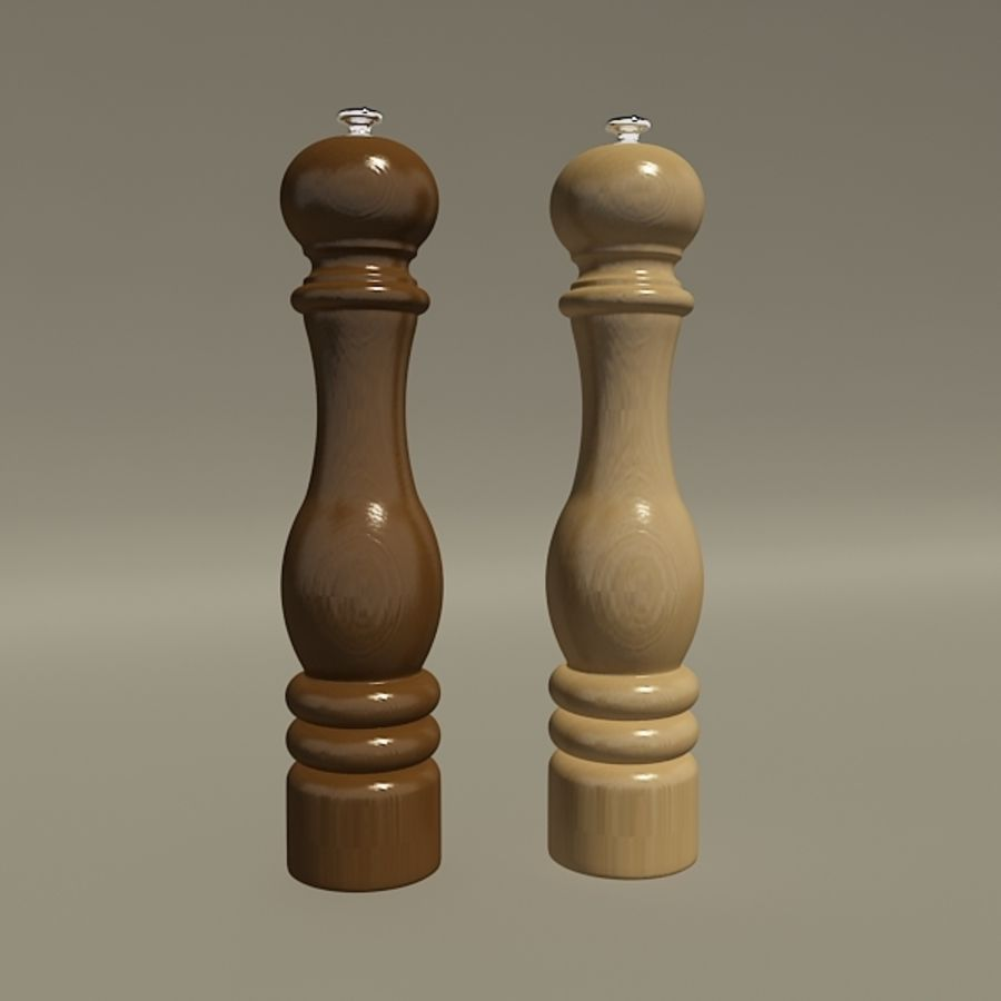 Pepper mill royalty-free 3d model - Preview no. 2