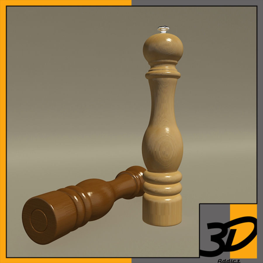 Pepper mill royalty-free 3d model - Preview no. 1