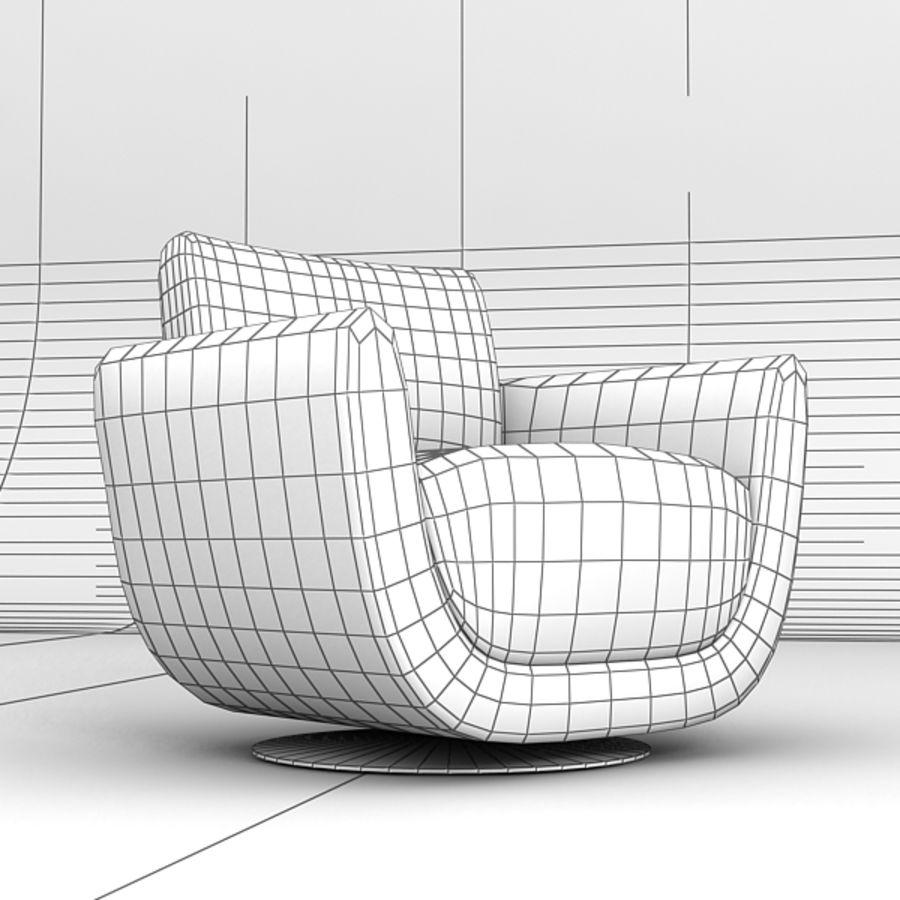 Nienkamper Carlisle Chair royalty-free 3d model - Preview no. 7