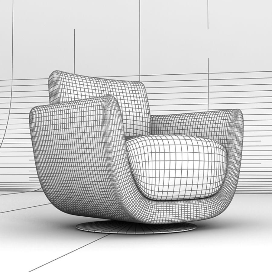 Nienkamper Carlisle Chair royalty-free 3d model - Preview no. 6