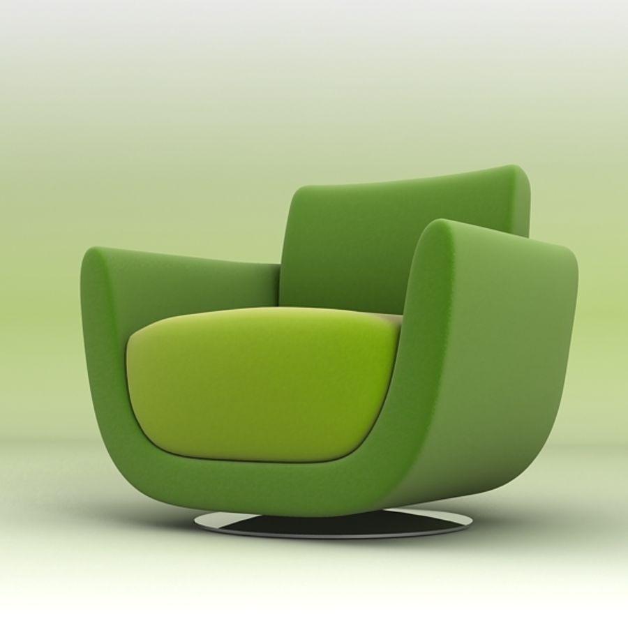 Nienkamper Carlisle Chair royalty-free 3d model - Preview no. 2