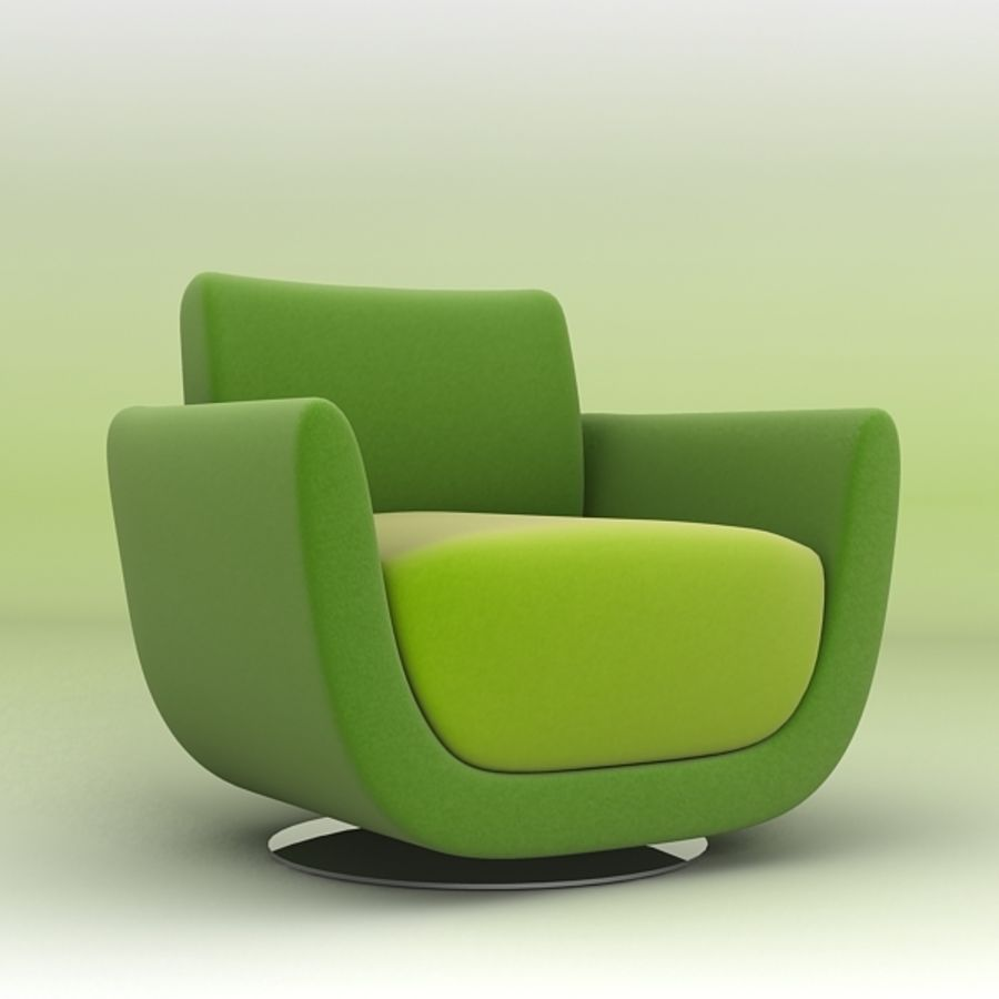 Nienkamper Carlisle Chair royalty-free 3d model - Preview no. 1