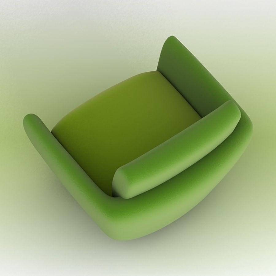 Nienkamper Carlisle Chair royalty-free 3d model - Preview no. 3