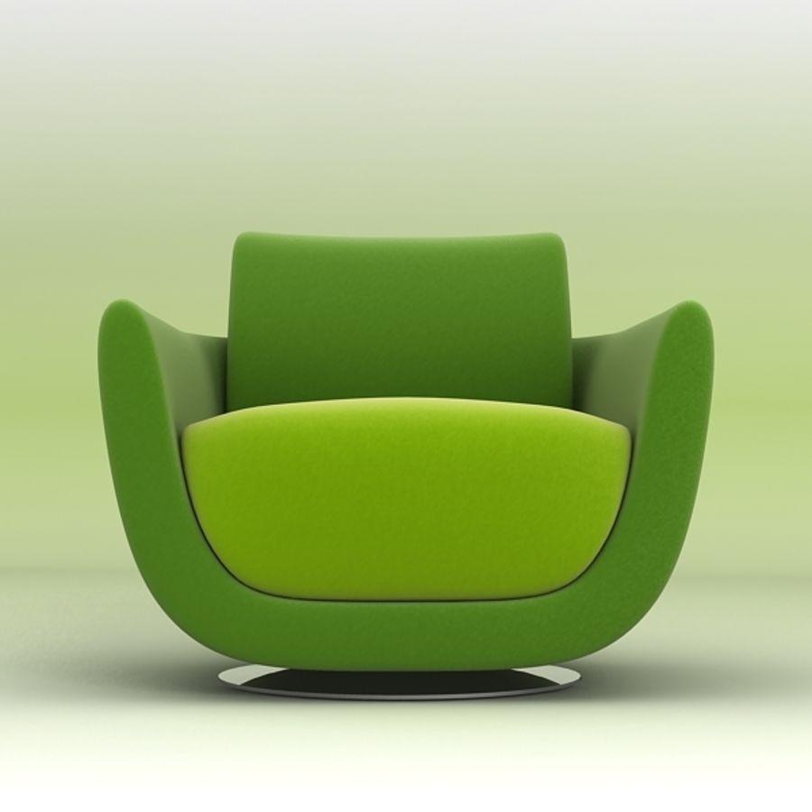 Nienkamper Carlisle Chair royalty-free 3d model - Preview no. 4