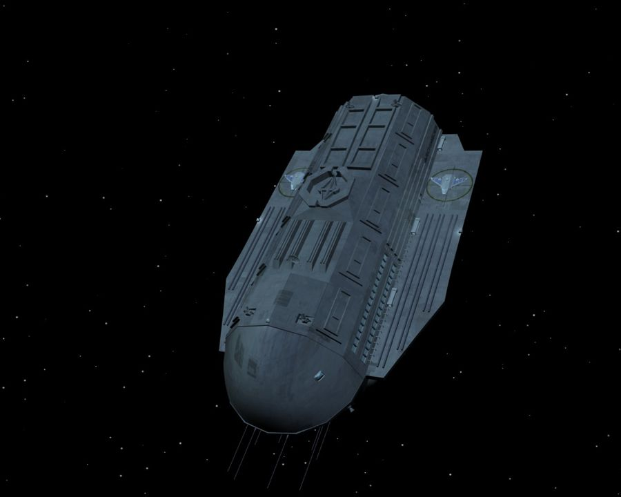 Alcestis Habitat Vessel royalty-free 3d model - Preview no. 7