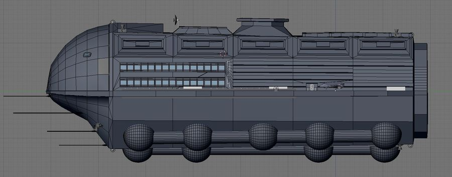 Alcestis Habitat Vessel royalty-free 3d model - Preview no. 15