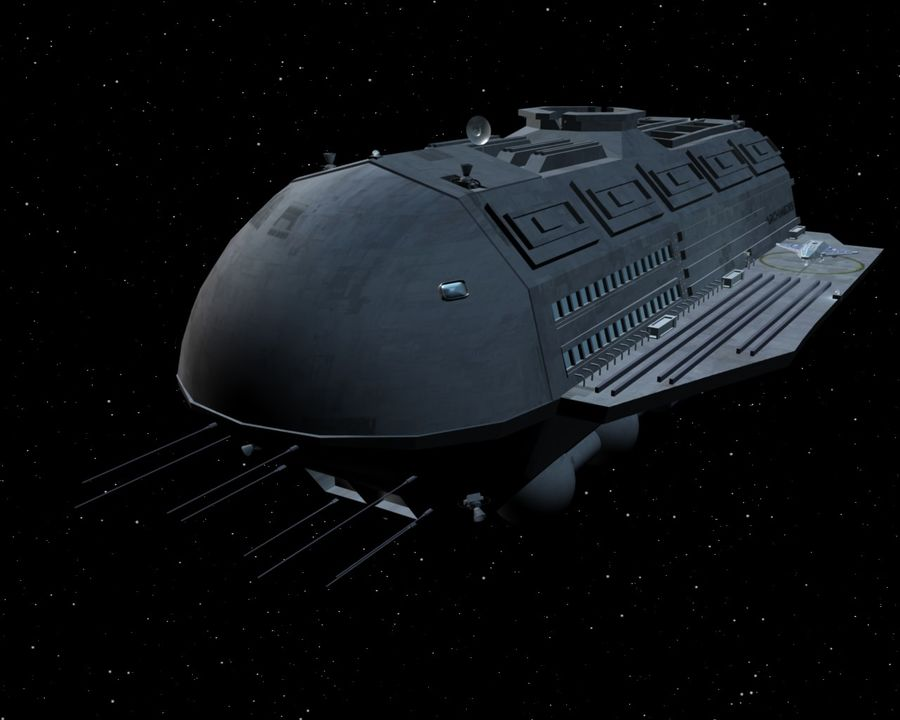 Alcestis Habitat Vessel royalty-free 3d model - Preview no. 6