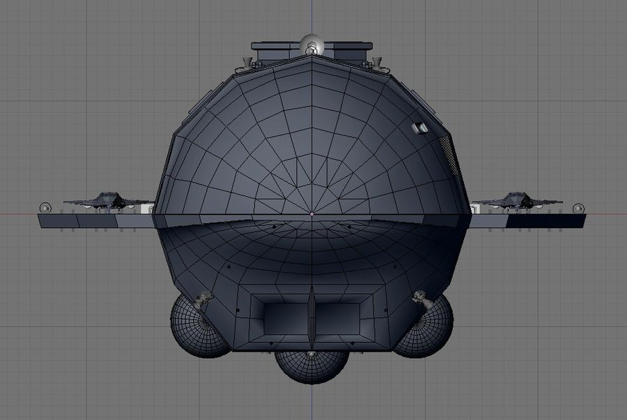 Alcestis Habitat Vessel royalty-free 3d model - Preview no. 16