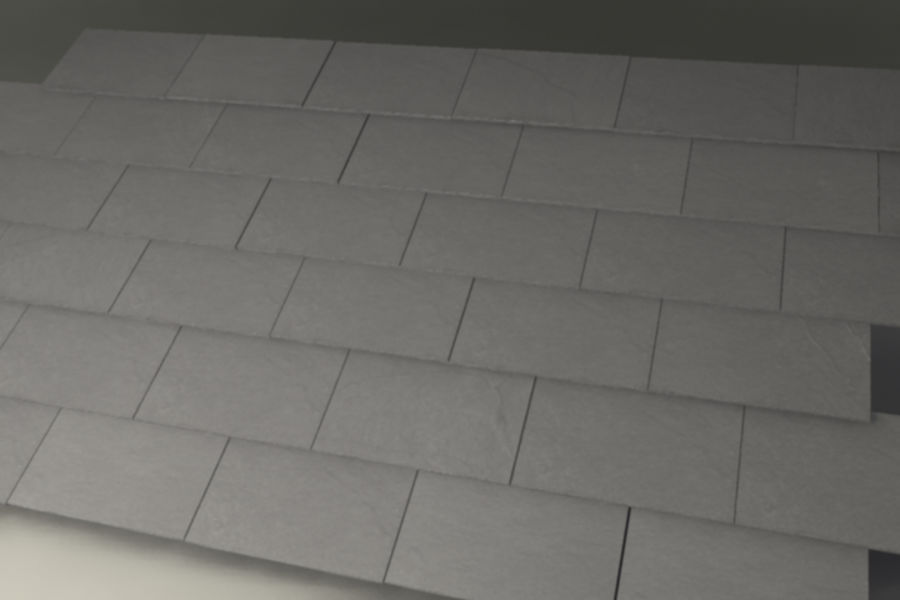 Slate Roof Tiles royalty-free 3d model - Preview no. 2