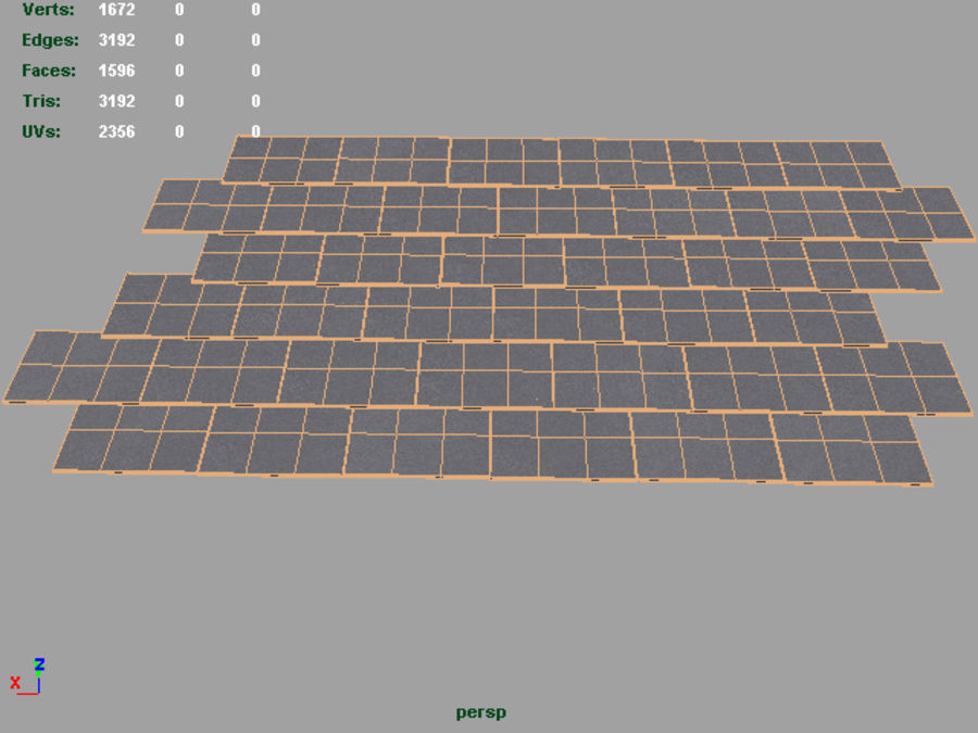 Slate Roof Tiles royalty-free 3d model - Preview no. 3