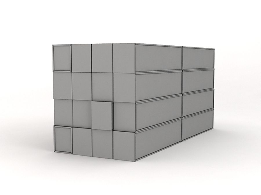 Low Poly Cargo Containers royalty-free 3d model - Preview no. 2