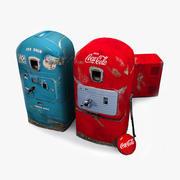 Retro Vending Machine Set 3d model
